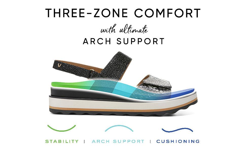 Vionic Women's Phoenix Brielle Backstrap Platform Sandal
