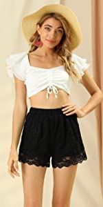 B08V1J2G3K Lace shorts can pair with your dress