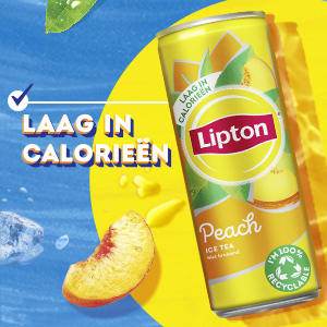 Lipton Ice Tea Peach, laag in calorieën, 100% Rainforest Alliance gecertificeerde thee