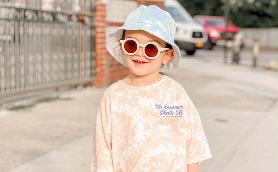SOJOS Cute Round Baby Sunglasses for Kids Girls Boys Vintage UV400 Protection Beach Holiday SK5606