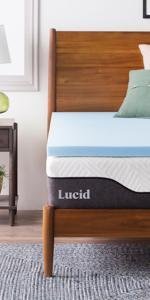 Gel infused mattress topper