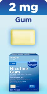 2 mg nicotine uncoated gum