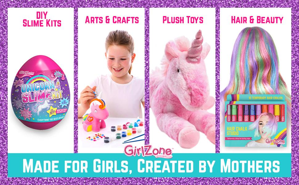 GirlZone SLime Kit DIY Arts and Crafts Plush Toys Hair and Beauty