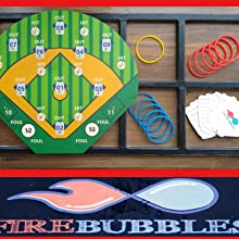 Hook-A- Hit in a display case with rings and instructions for variations in game play