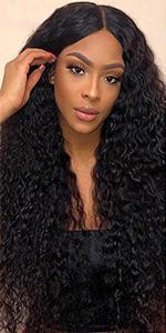 kinky curly wigs human hair