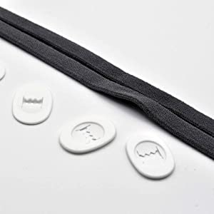Headgear straps and clips