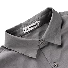 YAOHUOLE Men's Casual Button Down Shirt Short Sleeve Cotton Beach Shirt with Chest Pocket