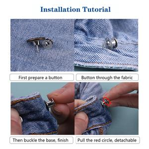 jean button pins jeans buttons adjustable replacement instant no sew tools