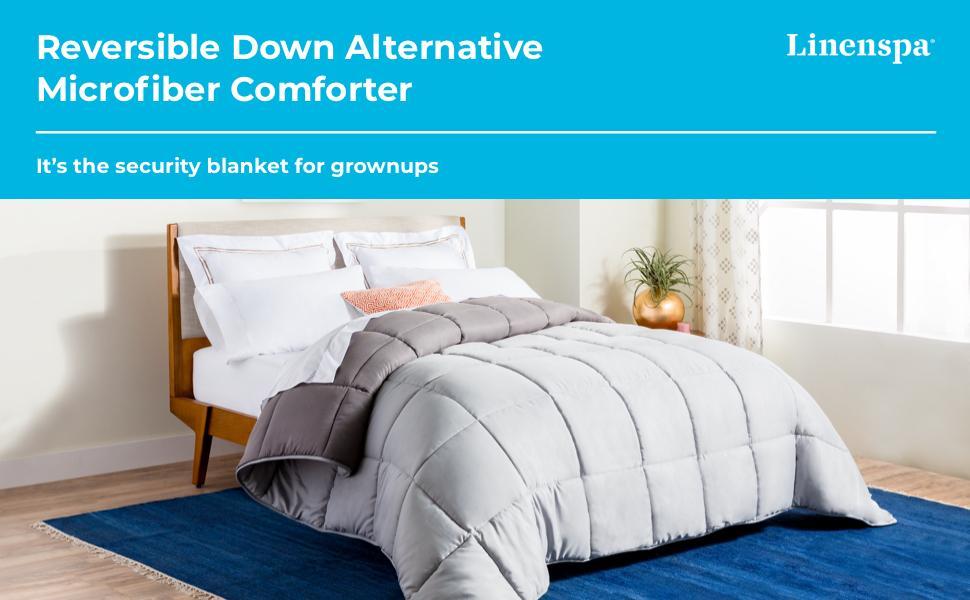 reversible down alternative microfiber comforter