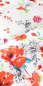 White Floral Japanese Futon Floor Mattress