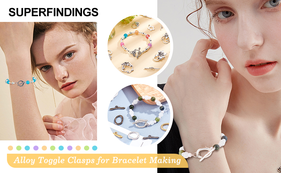 Jewelry Toggle Clasps Alloy Big Clasp Toggle Findings for Necklace Bracelet Jewelry Making DIY Craft