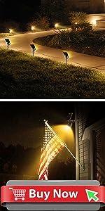 4 Pack Solar Spotlights Outdoor