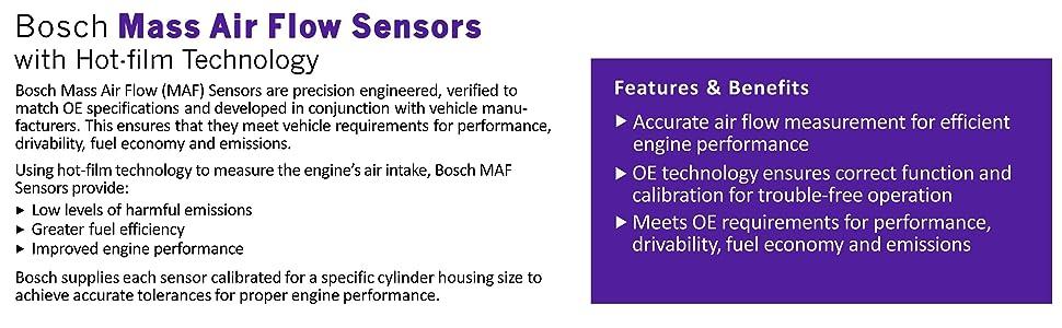 Shop Bosch Mass Air Flow Sensors for Audi BMW MINI Mercedes-Benz Volkswagen Volvo
