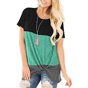 color block women shirts
