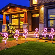 Flamingo solar garden lights, garden ground lights