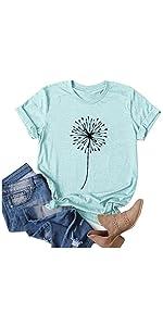 T-Shirts for Women-Blue