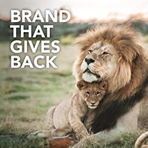 A lion family with a headline brand that gives back