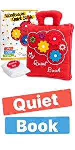 Montessori Quiet Book - Montessori Toys for Toddlers