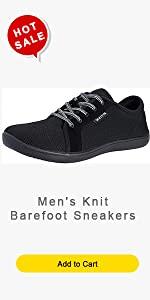 Menamp;#39;s Knit Barefoot Sneakers