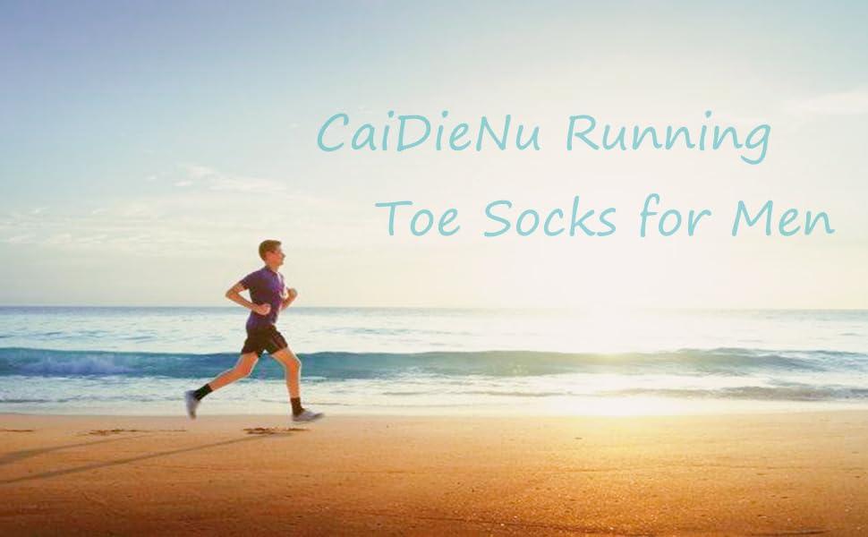 CaiDieNu Running toe socks for men