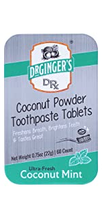 Coconut Powder Toothpaste Tablets