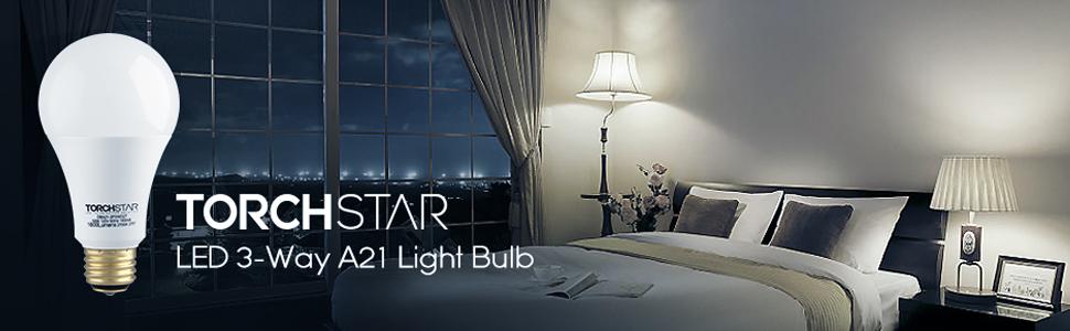 TORCHSTAR LED 3-Way Light Bulb