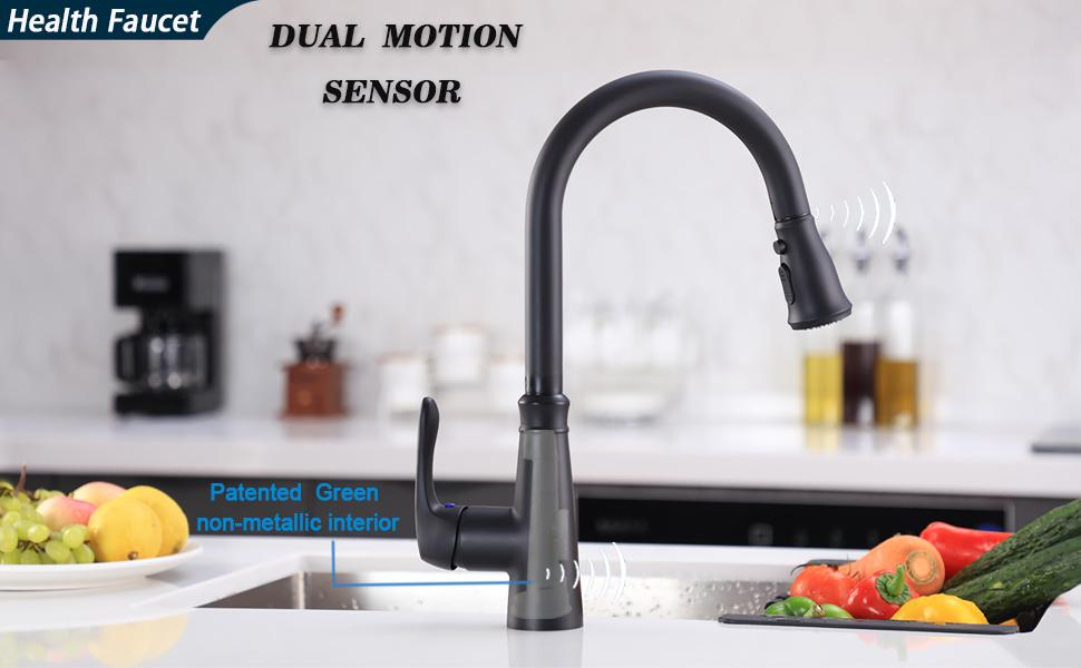 Touchless Kitchen Faucet with PullDown Sprayer