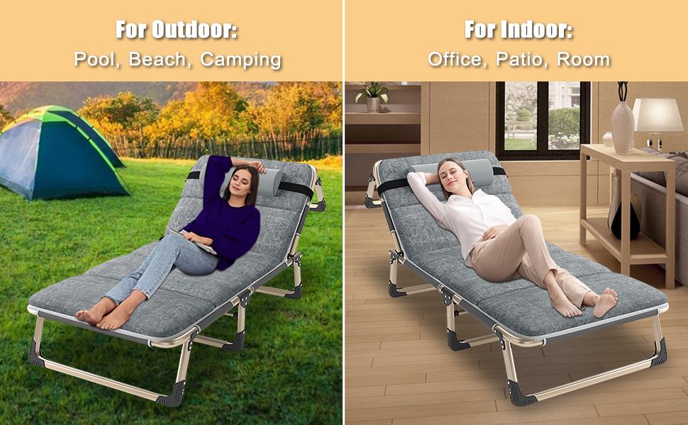 Barbella Folding Lounge Chair,