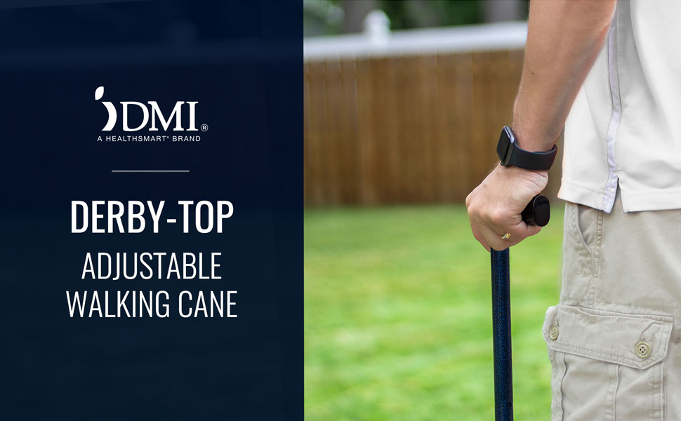 DMI Derby-Top Adjustable Walking Cane