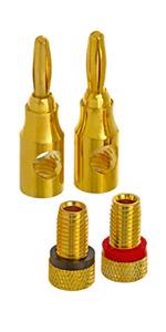High-Quality Copper Speaker Banana Plugs
