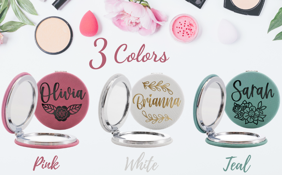 personalized compact mirror bridesmaids gifts pocket mirror gift for women her girl