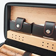 cigar humidor set, cigar case with lighter and cutter, gift for Birthday, Father's Day