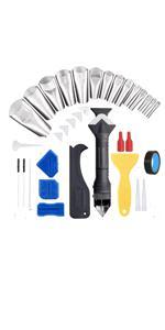 3 in 1 Caulking Tool Kit,35Pcs Silicone Caulking Finishing Tool Kit