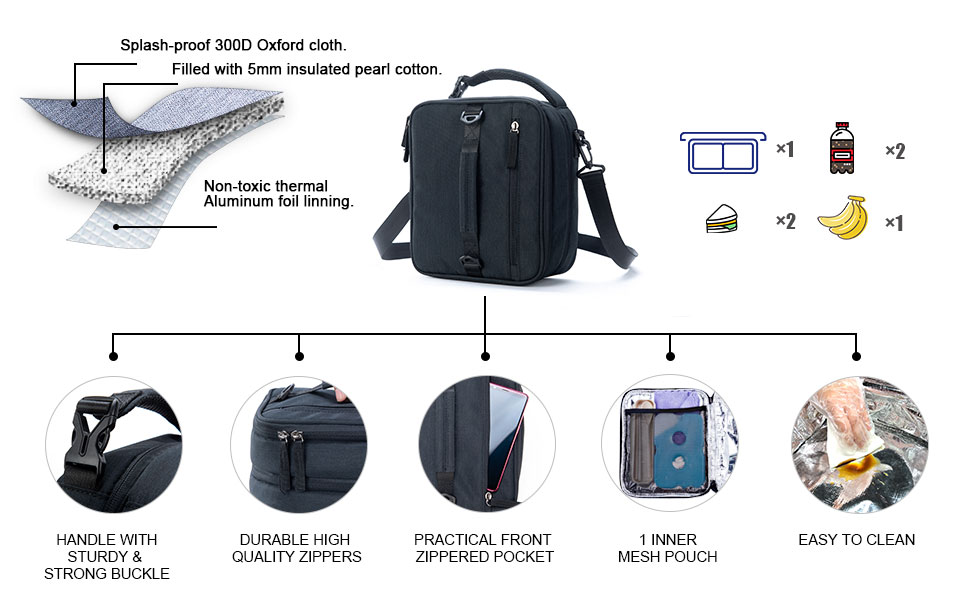 Details of VENLING Expandable Lunch Box