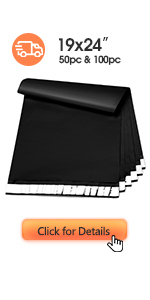 Metronic Poly Mailers 19x24 Black