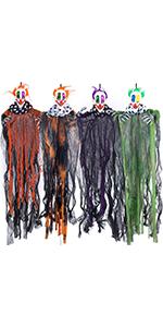 """29"""" Halloween Hanging Clowns (4 Pack)"""