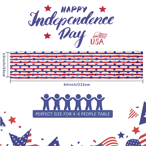 Independence Day 4th of July Table Runner Dresser Scarves 13x84inch (1)