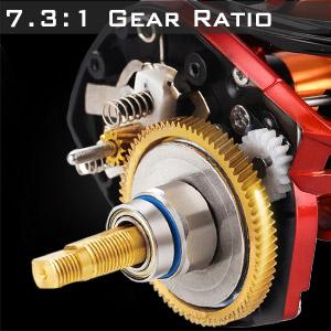 7.3:1 gear ratio