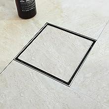 """6"""" tiled insert shower drain"""