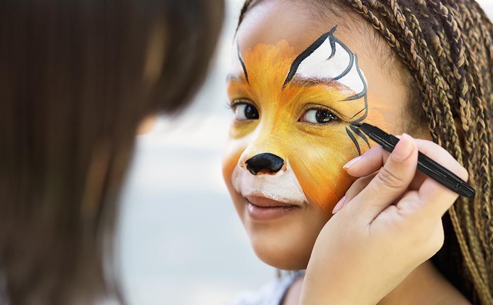 mosaiz face paint for halloween