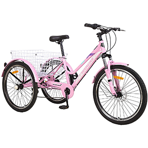 Pink mountain tricycle
