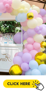 pastel rainbow balloons garland arch kit for baby shower birthday party