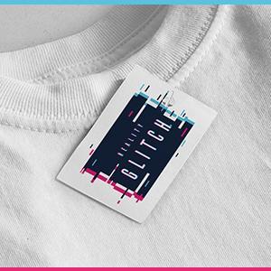 Reality Glitch Branding Swing Tag on T-Shirt