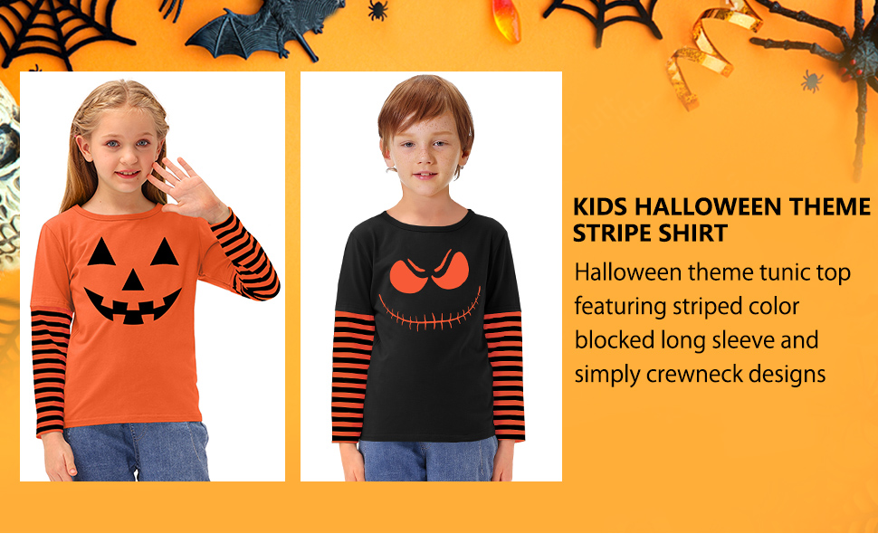 halloween stripe shirt