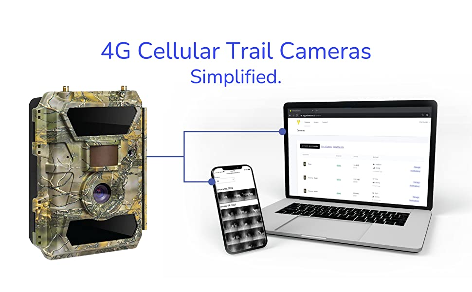 trail camera sends pictures videos to phone app email text