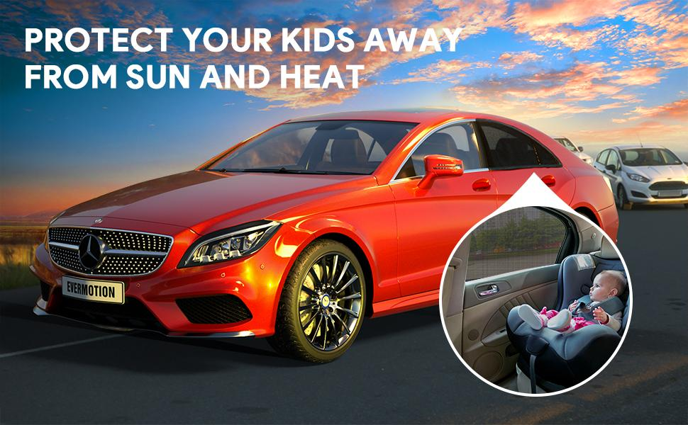 protect your kids away from sun and heat