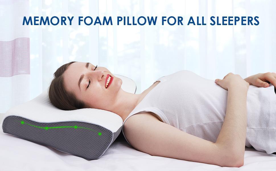 Memory foam pillow best pillows for sleeping side sleeper