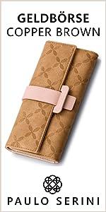 geschenk für frauen weihnachten muttertag geburtstag geldboerse gelbbörse dunkelblau copper brown