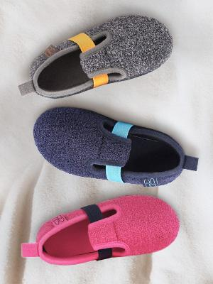 HomeTop Boys Girls Comfy Wool Felt House Shoes