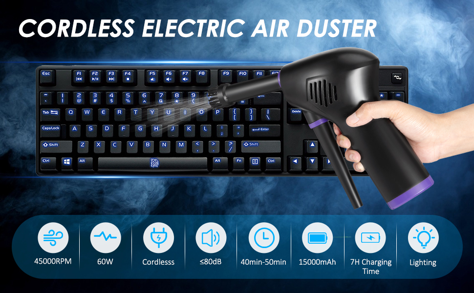 cordless electric air duster